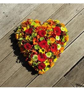 Fleuriste Leloup-Le petit coeur de fleurs variées