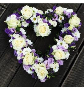 Grand cœur creux de fleurs...