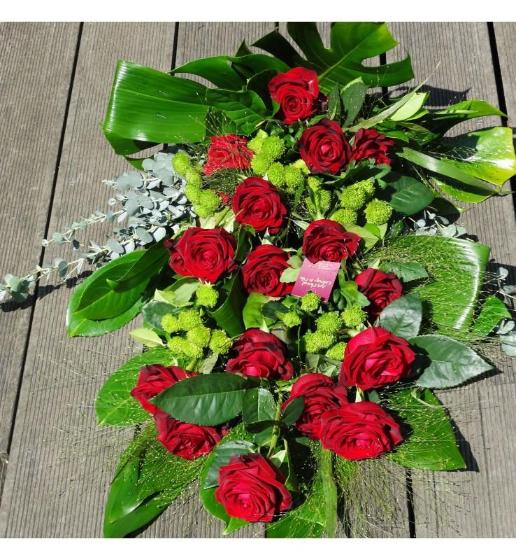 Fleuriste Leloup-Le bouquet de deuil