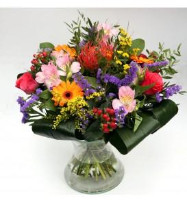 """Fleuriste Leloup-Bouquet """"Eline"""" Coloré"""