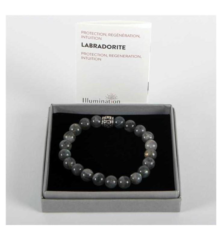 Fleuriste Leloup-Labradorite de 8mm/Taille 1 - Lithothérapie Bracelet