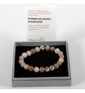 Fleuriste Leloup-Pierre de Soleil de 8mm/Taille 3 - Lithothérapie Bracelet